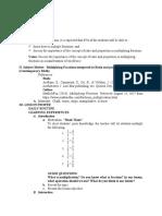 Lesson plan (Multiplying Fractions)
