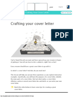 Cover Letters Crafting Your Cover Letter