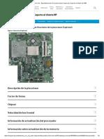 Desktops HP All-in-One - Especificaciones de la placa base (Capirona) _ Soporte al cliente de HP®