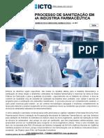 ICTQ - Validação do processo de sanitização em salas limpas na Indústria Farmacêutica