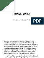 3. FUNGSI LINIER