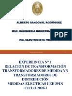 EXPERIENCIA 2 RELACION DE TRANSFORMACIÓN