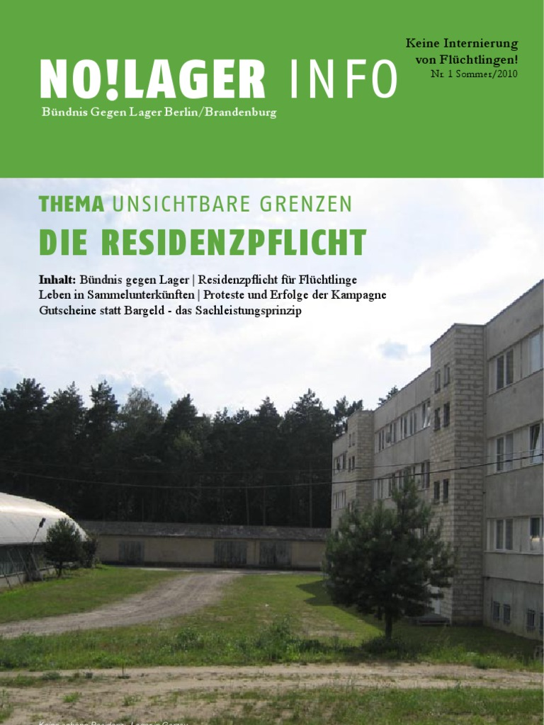 Bundnis Gegen Lager Berlin Brandenburg No Lager Info Nr 1