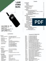 Yaesu FT-23R VHF FM Portable Transceiver - User Manual