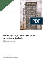limites a produção da moradia social no centro de SP