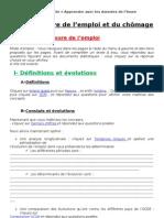 TD Emploi et chômage 2010-2011