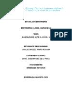 BIOSEGURIDAD ANTE EL COVID 19