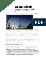 Transmissão conjugada de energia e de dados resultará em grande economia de custos.doc