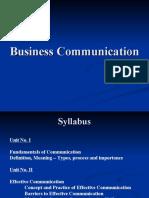 FYBMS- Business Communication