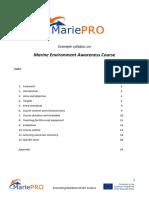 Example syllabus on Marine Environment Awareness
