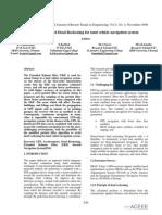 International Journal of Recent Trends in Engineering - Sensor based Dead Rockening for land vehicle navigation system