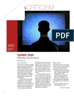 Media Criticism Syllabus, Fall 2008