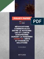 négociations commerciales entre ke RU et le UE durant la Pandémie Cov 19
