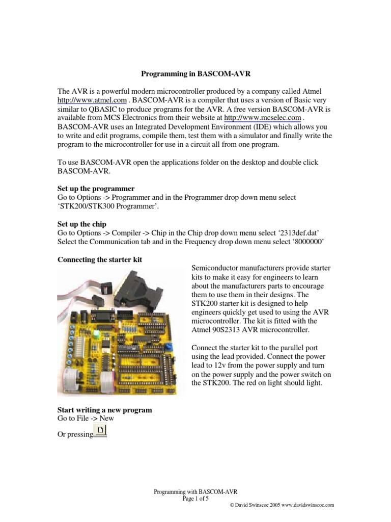 Bascom Avr Microcontroller Integer Computer Science Programmer Via Parallel Port