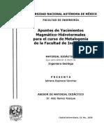 Apuntes de Yacimientos Magmático-Hidrotermales