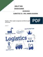 ASSIGNMENT Devesh (2019533534)