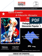 ANTOLOGIA IV TEEA CICLO ESCOLAR- 2016-2017 CUADERNILLO PEDAGOGIA CRITICA Y EDUCION POPULAR I