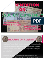issue of currency
