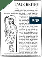 Marc (1912)-Subskriptionsprospekt zum Almanach Der Blaue Reiter