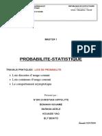 PROBABILITE STATISTIQUE G30