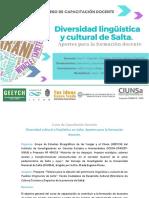 Curso - Diversidad cultural y linguistica de salta 2020