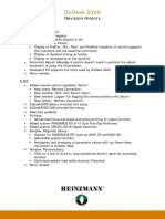DcDesk 2000 - Revision History
