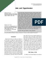 Salt intake and hypertension, 2014