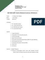 Minit Mesyuarat Panitia Pendidikan Islam Kali Pertama 2011