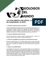 Grado de cumplimiento objetivos del milenio 2010