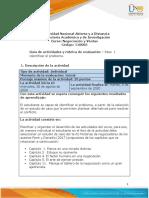 Guia de actividades y Rúbrica de evaluación Paso 1 - Identificar el problema