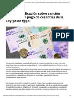 SANCIÓN MORATORIA EN PAGO DE CESANTIAS