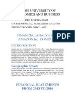 FINANCIAL ANALYSIS OF AMAZOM.INC COMPANY