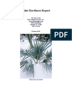 Palm Hardiness Report