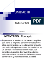UNIDAD III INVENTARIOS. Laura Martínez