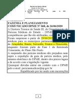 30.06.2020 Comunicado DPME 068-2020 Perícias Médicas Suspensas a Partir de 29.06.2020