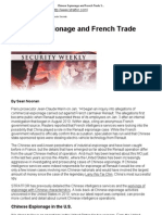 Chinese Espionage and French Trade Secrets