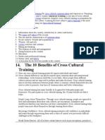 Cross-Culture Training