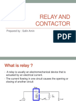 Relay and contactor in detail