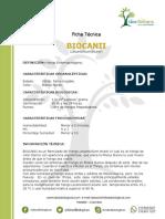Ficha tecnica Biocanii