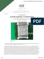 Jornada trigésima- Covid-Derechos | ctxt.es