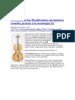 El sonido de los Stradivarius