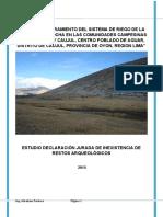 Informe de arqueología- matacocha