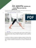 Revisión aporta RESPALDO LIMITADO AL YOGA PARA ALIVIAR EL DOLOR DE ESPALDA