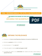 FHRAI - Reopening Manual for Hotels and Restaurants - 2020