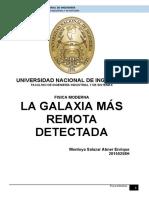 La Galaxia Más Remota Detectada