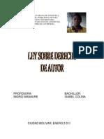 LEY DEL DERECHO DE AUTOR