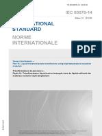 IEC60076-14 Transformateurs de puissance-Matériaux isolants