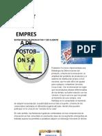 estrategia de productos Postobón