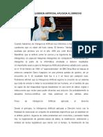 INTRODUCCION INTELIGENCIA ARTIFICIAL APLICADA AL DERECHO