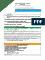 tematicas para tercer periodo Ciencias Sociales,.